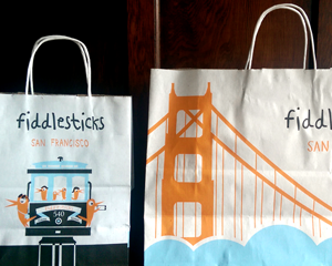 Fiddlesticks Shopping Bag